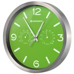 Часы настенные Bresser MyTime ND DCF Thermo/Hygro, 25 см, зеленые